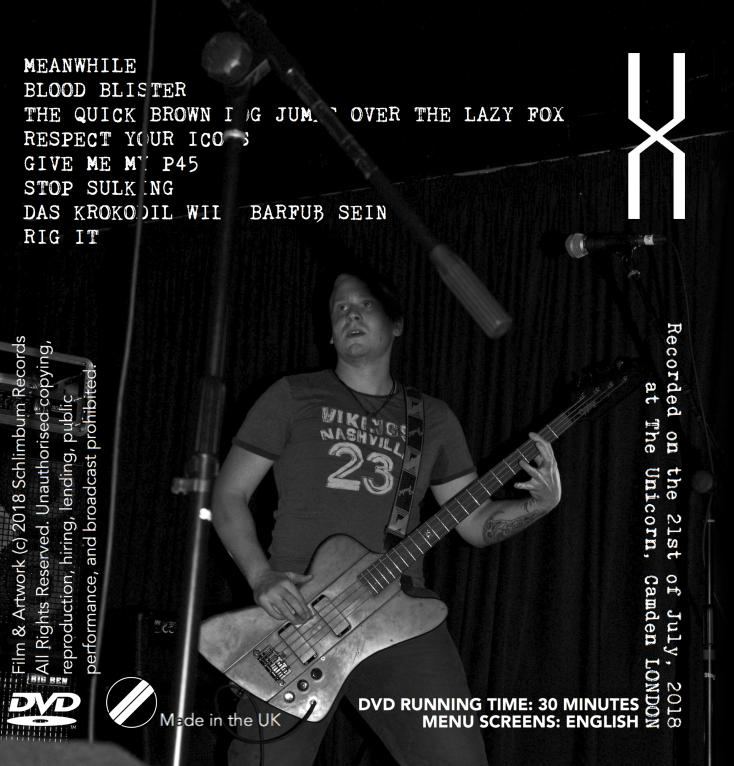 Brain Ape Live at The Unicorn [Back Cover]